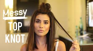 Topknot Hair Style the perfect messy top knot hair tutorial youtube 3859 by wearticles.com