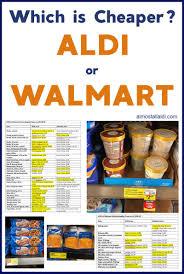 Is Aldi Cheaper Than Walmart Find 2019 Price Comparison