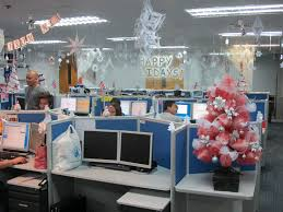 christmas office decorations ideas. Christmas Office Ideas. Mesmerizing Simple Trees Decor With Grey Tables Decorations Ideas