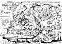 Композиция работы в материале Графическая композиция Рыба  Графическая композиция Рыба Карандаш бумага уроки графической композиции в Днепропетровске Обучение в