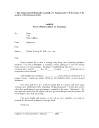 Employee Warning Letters Template Warning Letter To Employee For Attendance Ohye Mcpgroup Co
