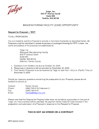 Proposal Cover Letter Best Solutions Of Request For Proposal Cover Letter On Request For 20