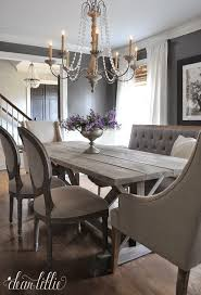 pair traditional dining chairs with a rustic table for a shabby chic look keep the colours neutral and the fabrics light