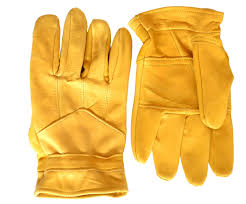 tan leather gardening gloves
