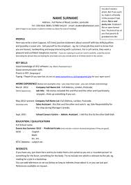 Example Cv Year      Sample Resumes For College Students Summer Job Pinterest resume no experience high school work cv template year     student for a highschool with experience jpg