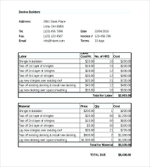 Catering Invoice Template Word Sample Of Invoice Template For Word ...