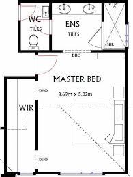 plan of a typical master bedroom layout and size