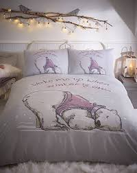 lazy bear duvet cover set grey