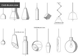 Light Fixtures Autocad Blocks Pendant Light Cad Drawings