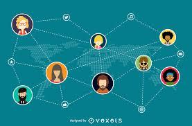 Social Network Illustration Vector Download