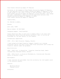 Luxury Accountant Resume For Fresher Mailing Format