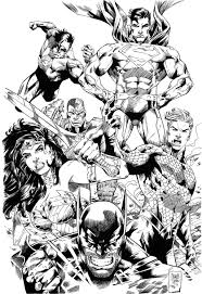 Justice League Unlimited Coloring Pages How To Draw Superman Batman