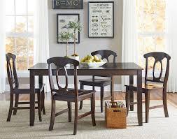 vendor  larkin  piece dining table set with open oval splat
