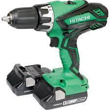hitachi drill set. 18v li-ion cordless combi drill dv18dgl/jm combi drill 2x3.0ah hitachi set