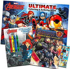 Avengers hulk coloring page from marvel's the avengers category. Amazon Com Marvel Avengers Coloring Book Super Set With Crayons 3 Jumbo Books Featuring Captain America Thor Hulk Iron Man And More Toys Games
