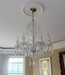 chic waterford crystal chandelier waterford crystal avoca six arm chandelier for at 1stdibs
