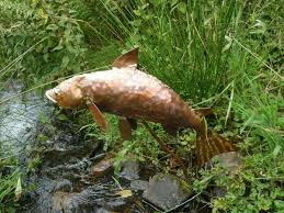 copper garden art. Copper Garden Art Sculpture Fish