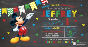 12 Mickey Mouse Birthday Invitations Jpg Psd Ai