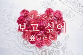 会 いたい 韓国 語
