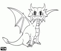Print & Download - baby dragon coloring pages -
