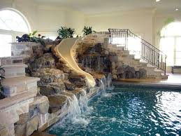 residential indoor pool with slide. Mansions With Indoor Pools Residential Pool Slide