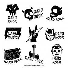 Rock Logo Collection With Flat Design Vector Free Download