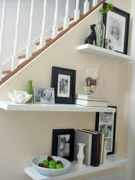 Modern Brown and White Floating Shelves