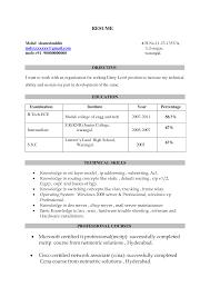 Sample Resume Sample Resume Headline Technical Skills And