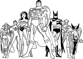 Enjoy These Printable Justice League Coloring