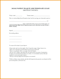 30 day termination letters 15 30 day notice letters to landlord paystub confirmation