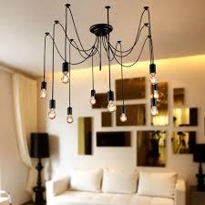 new modern led pendant lights diy vintage french 2 meter 10 lights black chandelier hanging lamp droplight pendant lights ceiling fans with lights from