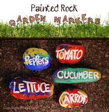 rockin labels for your veggie garden