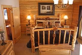 Top Rustic Bedroom Furniture Log Beds Throughout Cabin Remodel