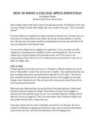 College Application Essays That Worked College Application Essay Examples Examples Of College Application