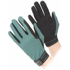 aubrion riding gloves mesh green
