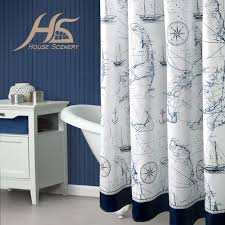 2019 whole geposen shower curtains with hooks map bathroom accessories navy style bath curtain 100 polyester waterproof mould proof from copy03