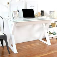 office computer desks for home. Home Office 48 In. Glass And Metal White Computer Desk Desks For
