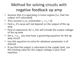 method for solving circuits with negative feedback op amp