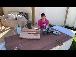 salvaged barn door coffee table diy