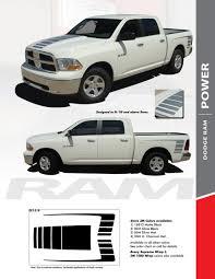2018 Ram Color Chart Power 2009 2018 Dodge Ram Strobe Hood Truck Bed Stripe Decal Vinyl Graphics Kit
