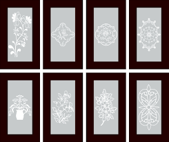Frosted Glass Designs Etched Glass Designs For Kitchen Cabinets Frosted Glass Cabinets