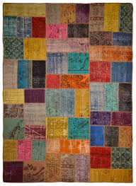 overdyed vintage patchwork rug