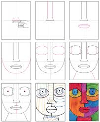How to add an arrow to images using paint. Draw An Abstract Face Art Projects For Kids