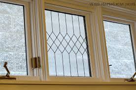 faux leaded glass window diy