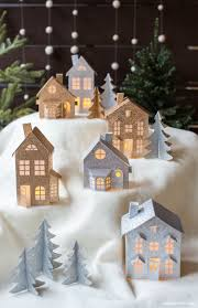 christmas house template 3d paper christmas village lia griffith