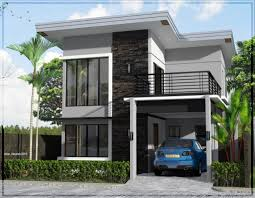 two story contemporary house plans minimalist home designs double modern y with balcony wrap ar