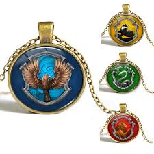 china factory whole 8 styles hogwarts slytherin crest pendant necklace jewelry glass cabochon gift