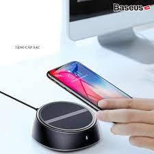 Đế sạc nhanh không dây Baseus tích hợp 3 cổng sạc USB 3.4A cho iPhone/  Samsung/Xiaomi