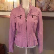 new york company faux leather peplum jacket m 5a8caaf2daa8f65fc56070e6