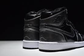 new arrival nike air jordan 1 retro high patent leather black 332550 017 mens basketball shoes